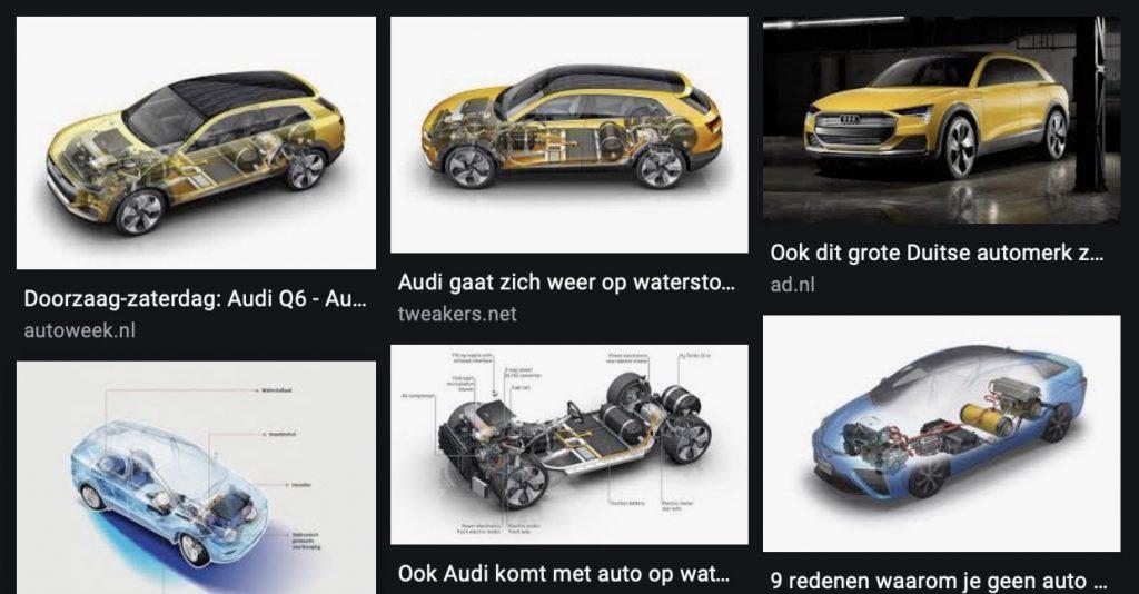 Waterstof auto of een hybride auto